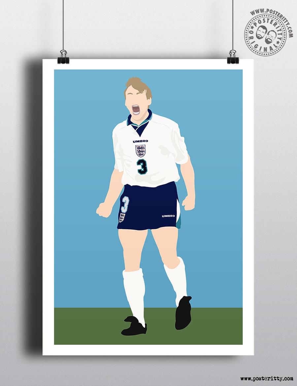 EURO 96 - Stuart Pearce - Minimalist Poster