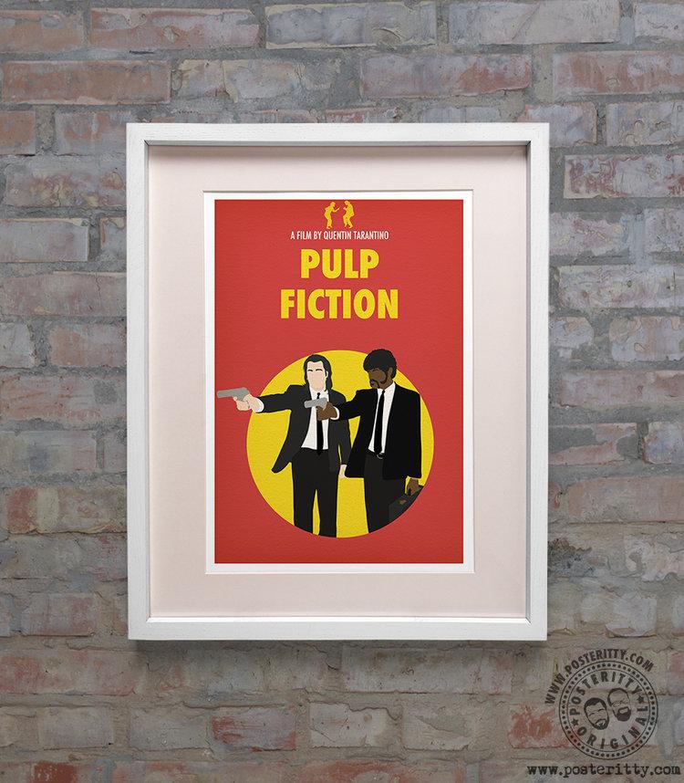 Pulp Fiction Minimal Alternative Movie Poster