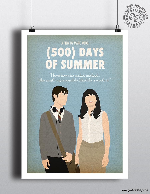 500 Days Of Summer Minimalist Movie Poster Posteritty