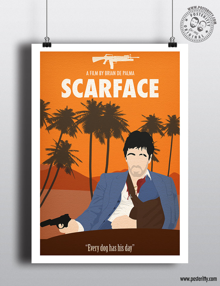 Scarface Minimalist Movie Poster Posteritty