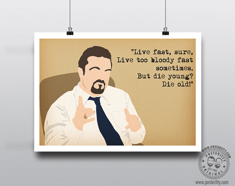 David Brent The Office Live Fast Sure Poster Posteritty