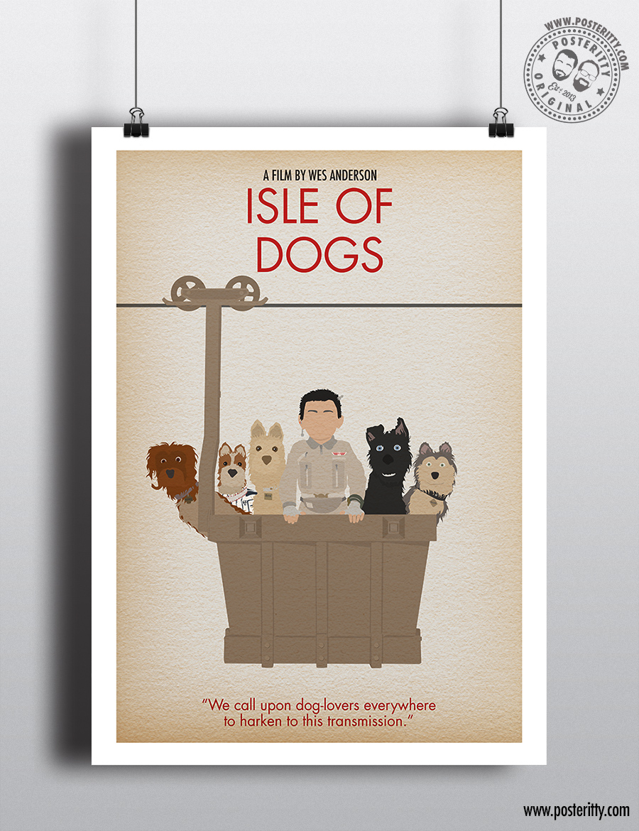 Isle Of Dogs Minimalist Wes Anderson Movie Poster Posteritty