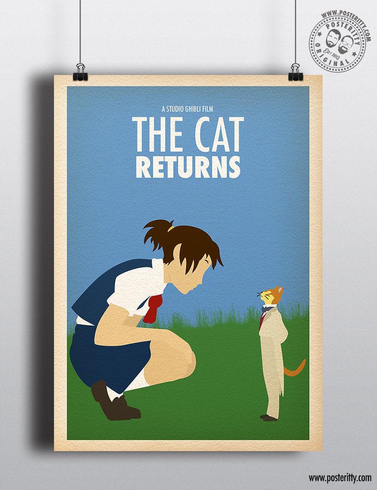 Studio Ghibli - The Cat Returns - Minimalist Movie Poster — Posteritty 6bdef59fe2
