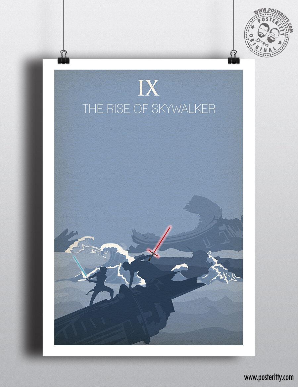 RISE OF SKYWALKER Star Wars Minimalist Movie Poster Posteritty Minimal Wall Art