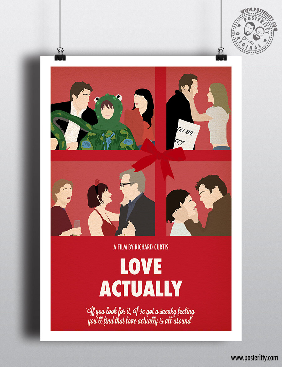 Love Actually - Minimalist Christmas Movie Poster — Posteritty