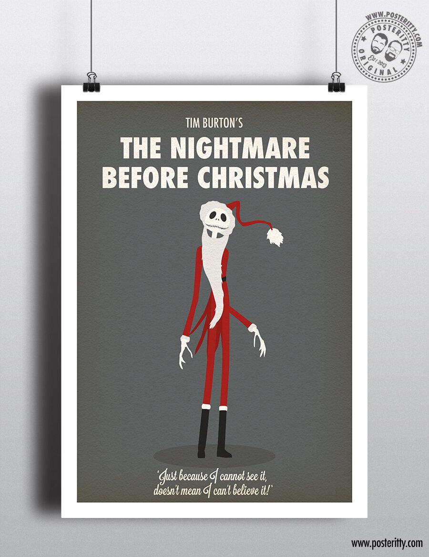 The Nightmare Before Christmas - Minimalist Christmas Movie Poster ...