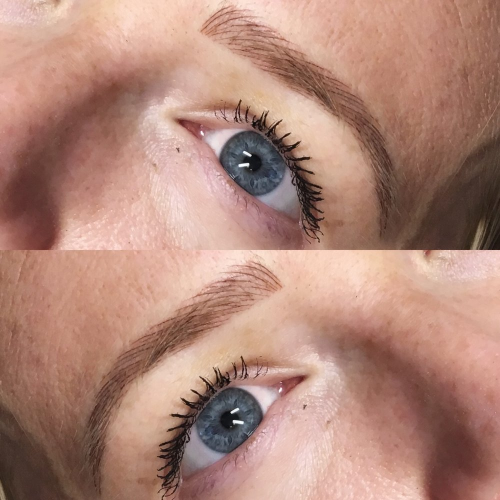 NATURAL MICROBLADING $550 - Adds color and density to natural brows with microblading. Ideal for those who have who have sparse brows, but want to keep their natural shape.Touch-up session may be recommended 6-8 weeks after initial session for finished results.