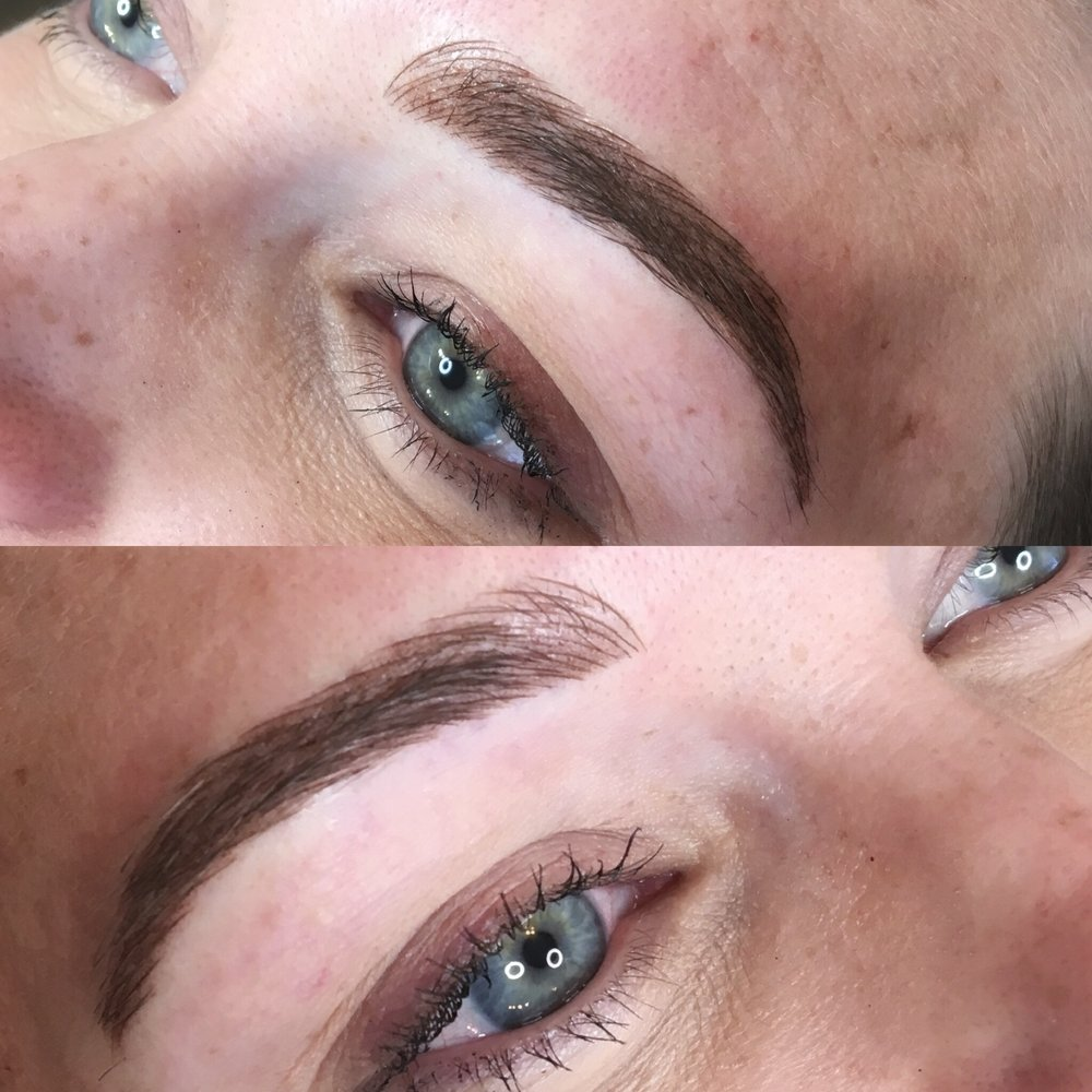 Combo Brows: $550 - This session adds shape, color and density to brows with microblading and microshading. Ideal for those with already full brows, who want to achieve a dramatic look, or those who have little to no brow hair.Touch-up session (included in price) is required 6-8 weeks after initial session for finished results.