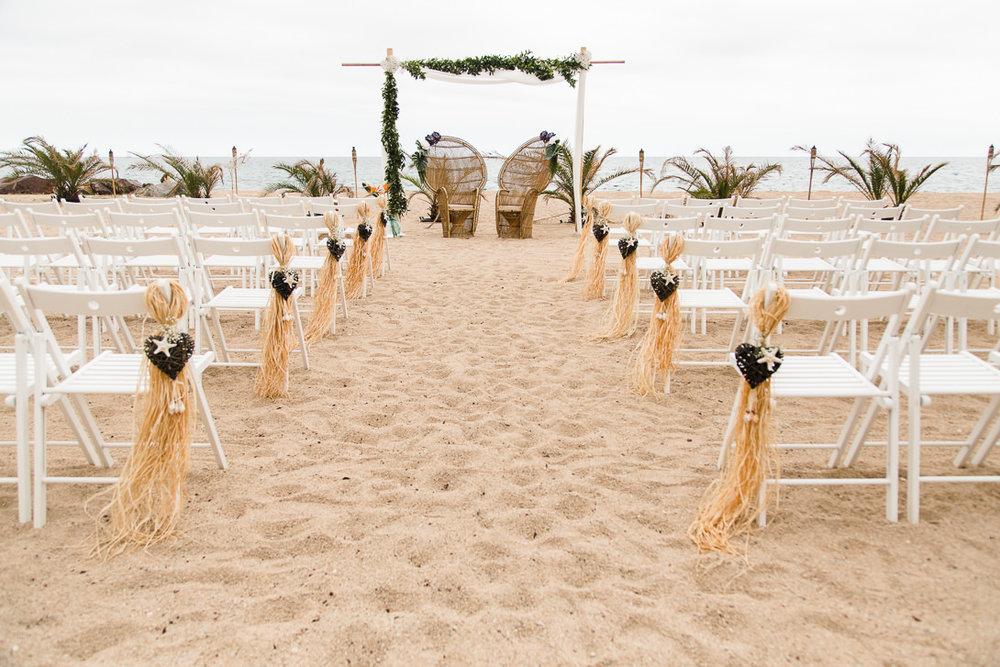Ceremonia en la playa. Espacio:  dBlanc