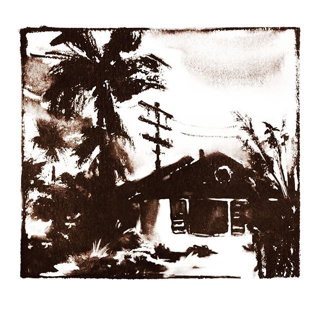 Plein air sketch from my trip to California last November. Such a melancholic place, imho.