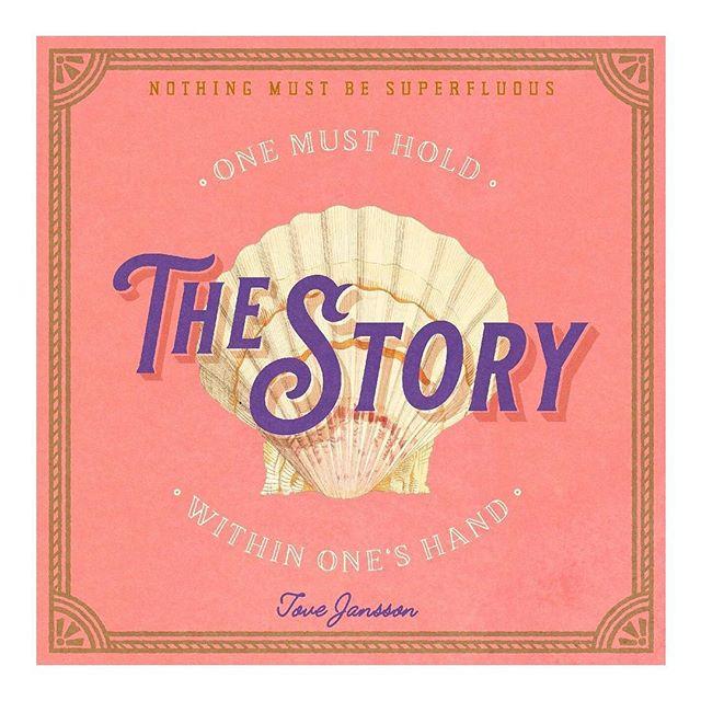 Well put Tove. #storytellinggoals