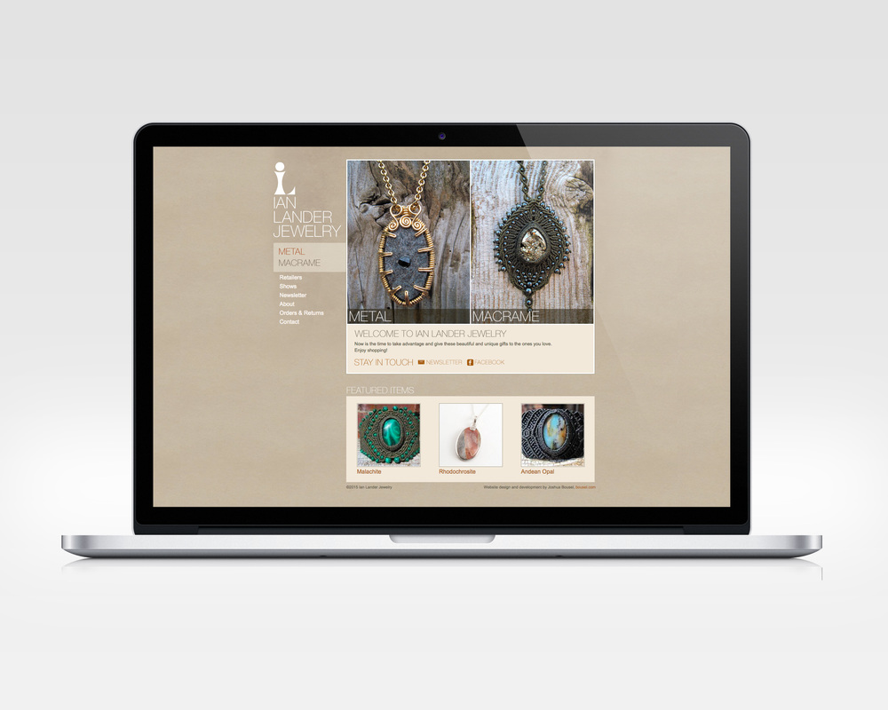 ian lander jewelry   design, ux, development   E-commerce site for jewelry designer.