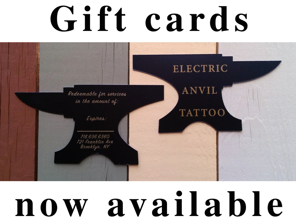 Gifts cards have arrived.  Stop by the shop and get your loved ones what they really want this holiday.  The perfect gift for your estranged step uncle who already has everything he could possibly need.