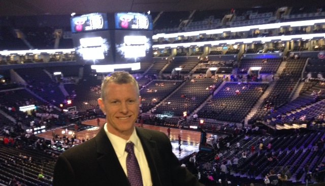 Car Leasing Concierge Owner/Director Paul Maloney overlooking center court