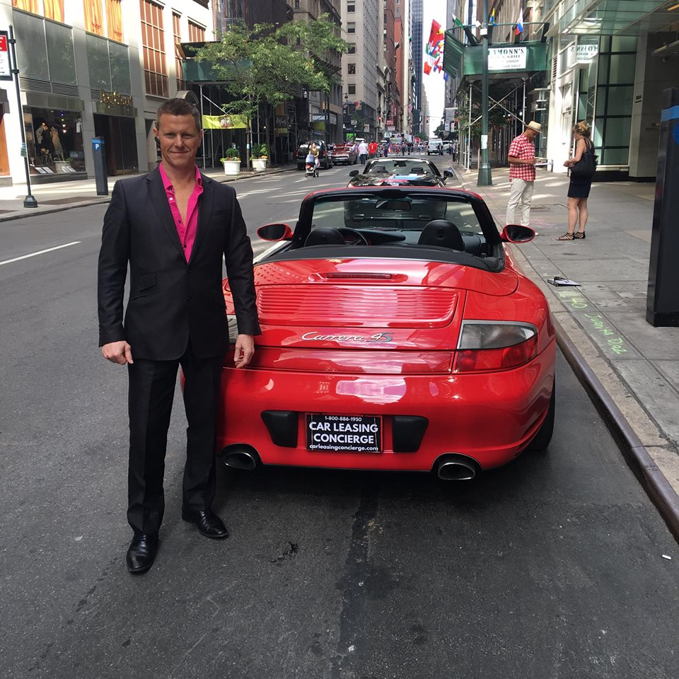 Car Leasing Concierge owner Paul Maloney with one Red Hot Porsche Carrera S!