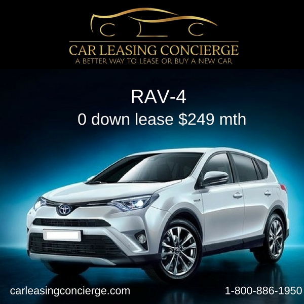 Zero Down Car Lease >> Toyota Rav4 Lease Deals For Zero Down Only 249 Mth Car Leasing