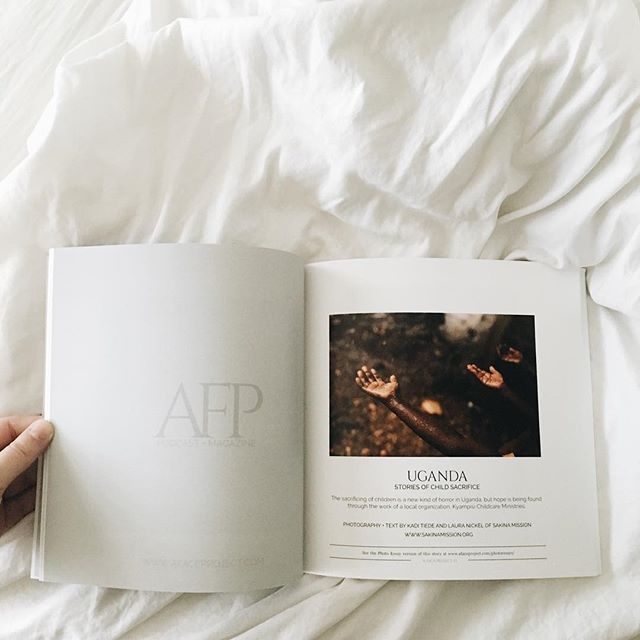 Pick up the latest volume of @afaceproject to see our published story of child sacrifice in Uganda. We're so honored to be a part of this beautiful journal and to witness the incredible work @jenningsphoto and her team do.