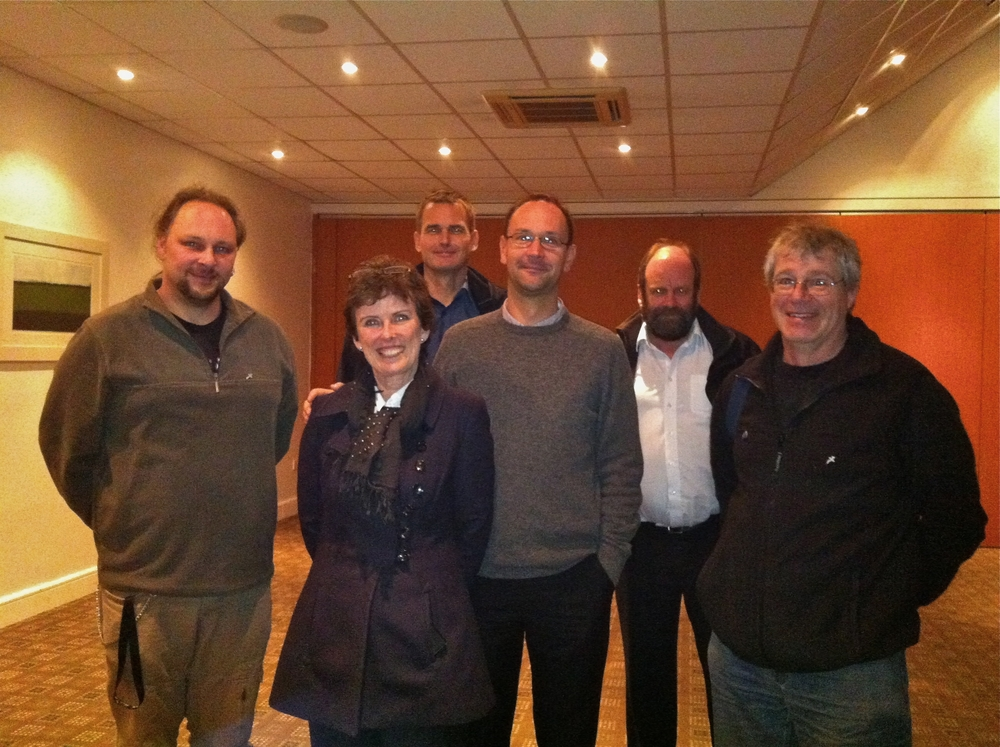 l-r; Sascha Reichmann (Sea-Alarm) Pauline Beades (OWRN) Hugo Nijkamp (Sea-Alarm) Claude Velter (Sea-Alarm) Hugh Barry (Irish Coast Guard) Dr. Steve Newton (Birdwatch Irl/OWRN)