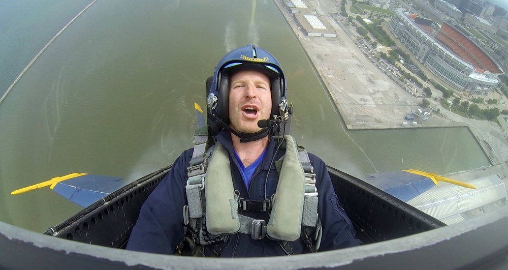 When I'm not shooting, I'm riding with the Blue Angels