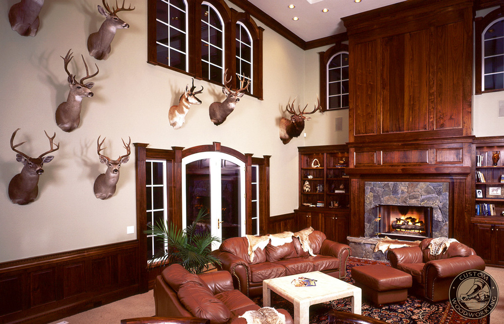 Trophy rooms julian sons fine woodworking for Trophy room design