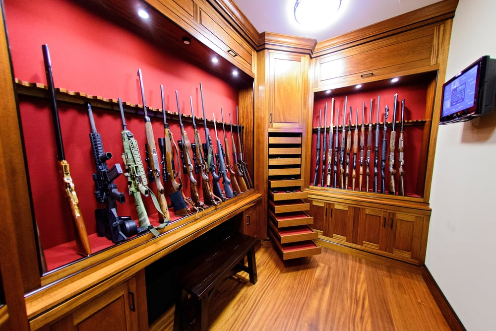 built in gun cabinet gun rooms amp cabinetry julian amp sons woodworking 12666