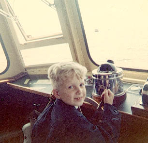 Henry Jr. at the helm of Launch 5 for the first time
