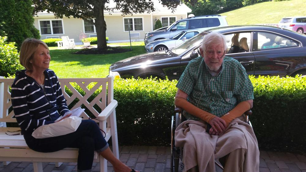 Edgewood Manor resident and Naples, Florida native Jack with his daughter Paula