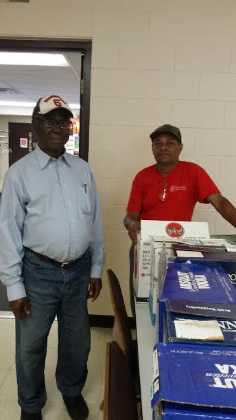 Salvation Army volunteers Ezem Nozike and Elanor Crispin