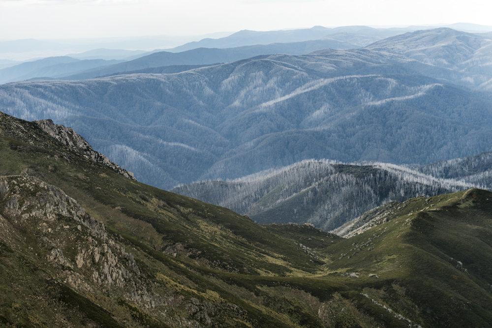 Vista dal Watsons Crag Dome (2.136m)