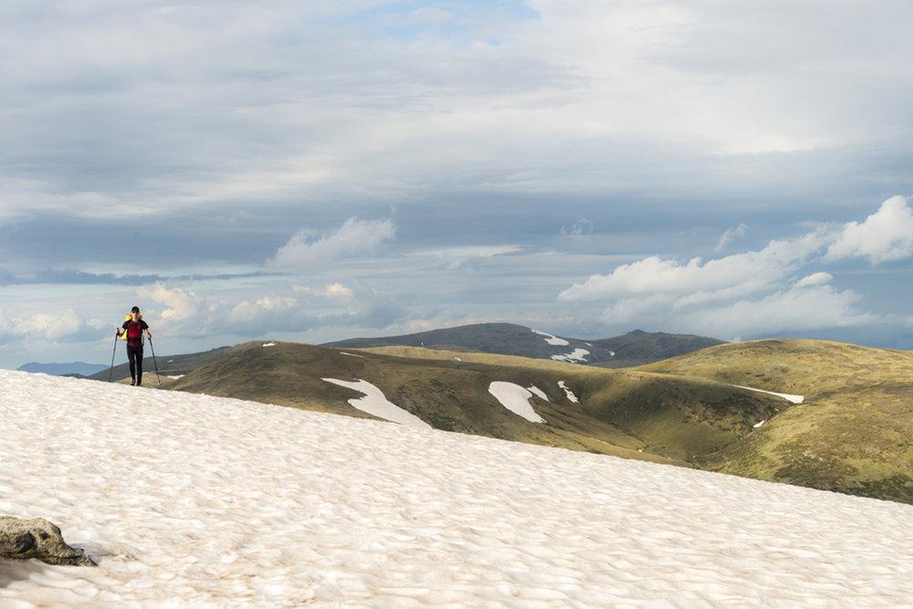 Avvicinandosi a Mt. Kosciusko, si può notare la (forte) presenza di neve