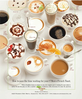 Terrace Cafe, Print Ad