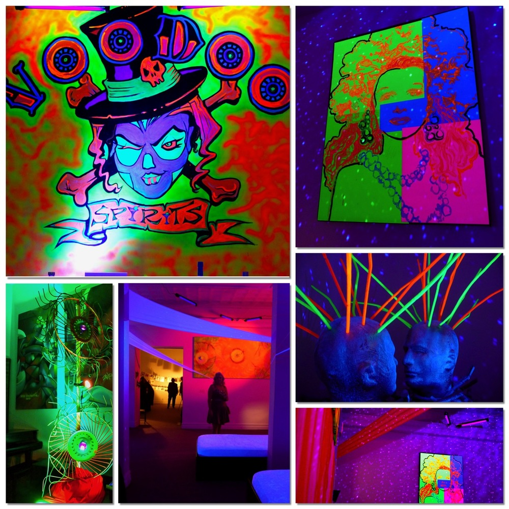 eggsotic events black light party lighting rental halloween glow party nj nyc 1jpg - Halloween Rental Decorations