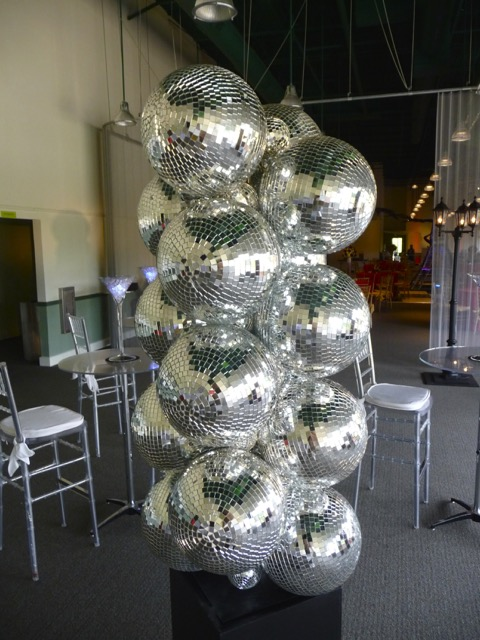 Disco Ball Decoration Extraordinary Era Themes Gallery — Eggsotic Events Inspiration