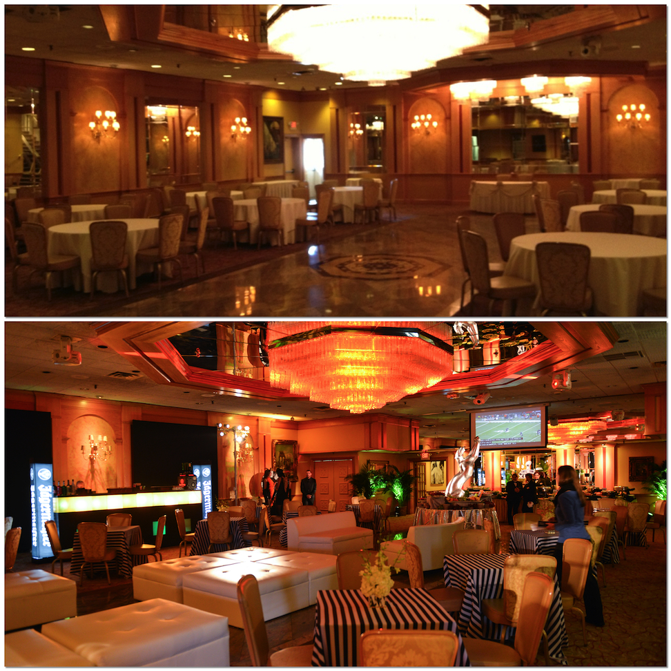 Eggsotic Events Super Bowl Pregame NJ NYC Primesport NY Theme Decor Great Gatsby Decor Before and After Collage 2 web size.jpeg