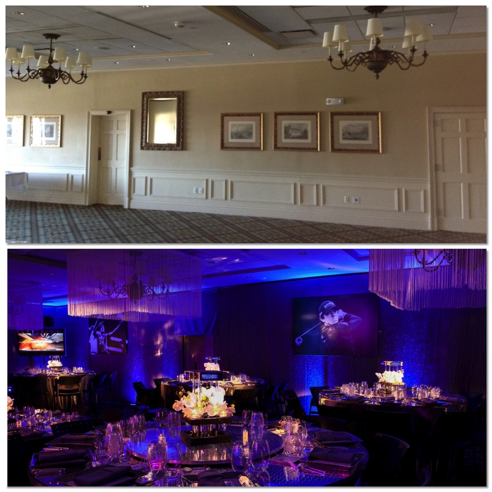 Greenbrook Country Club SportsCenter Theme Bar Mitzvah Design Centerpiece Before and After - Eggsotic Events NJ NYC Event Design Lighting Decor Drape Rental NJ NYC .jpg