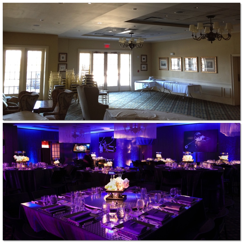 Greenbrook Country Club SportsCenter Theme Bar Mitzvah Design Before and After - Eggsotic Events NJ NYC Event Design Lighting Decor Drape Rental NJ NYC .jpg