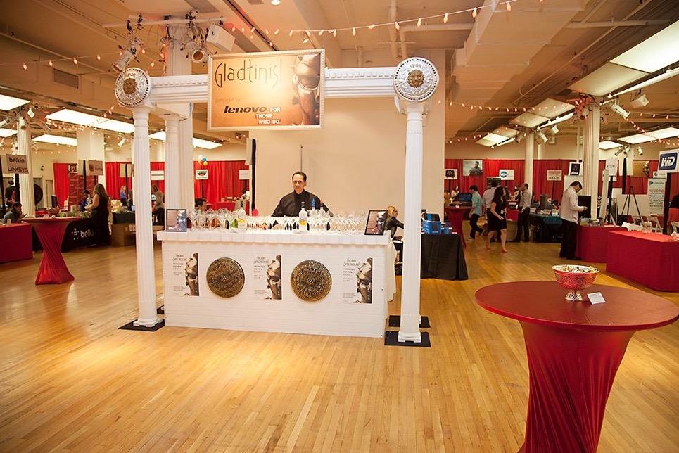 Roman Bar Rental Custom Theme Bar Roman Christmas Trade Show Decor and Bar Rental NJ NYC - Eggsotic Events Event Design  - 1.jpg