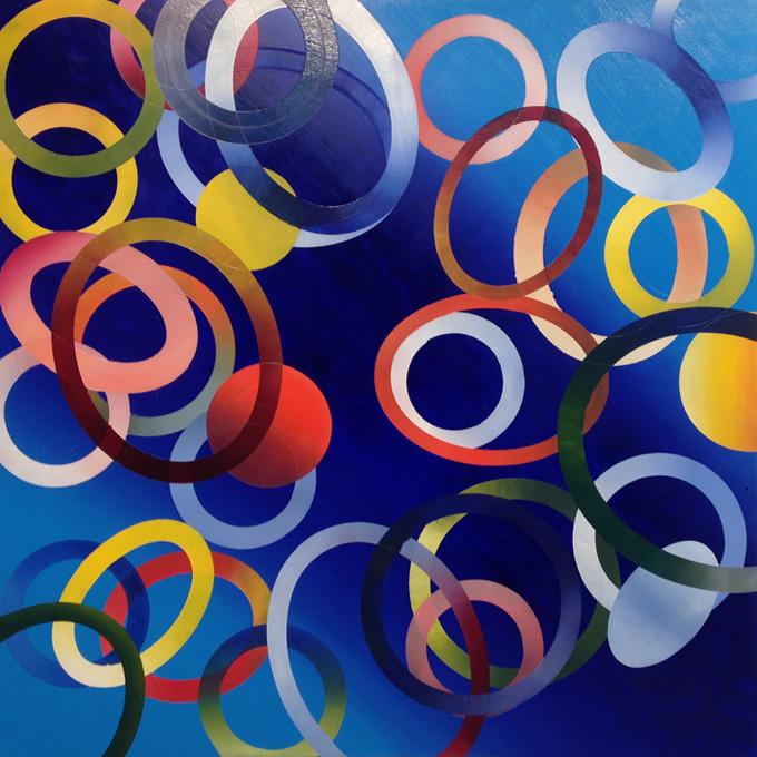 "Untitled. Oil on board, 24"" x 24, 2014"