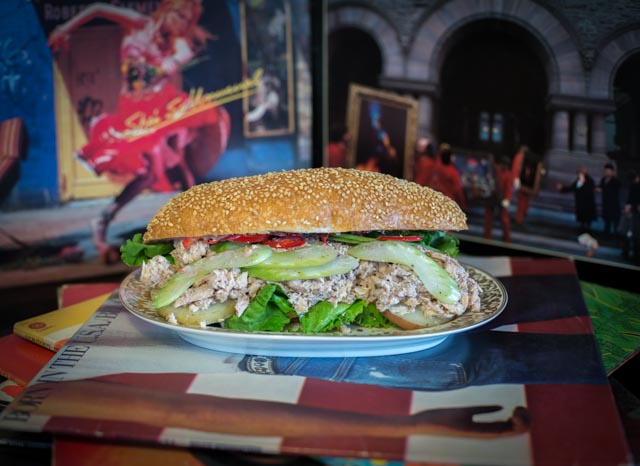 The Kai Ryssdal:   Pole caught tuna, potato confit, lettuce, celery, and black olive aioli.