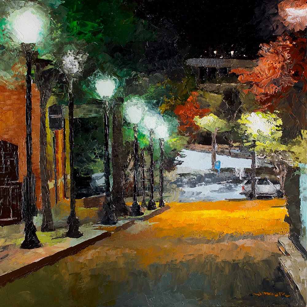 """Court Street at Midnight"""