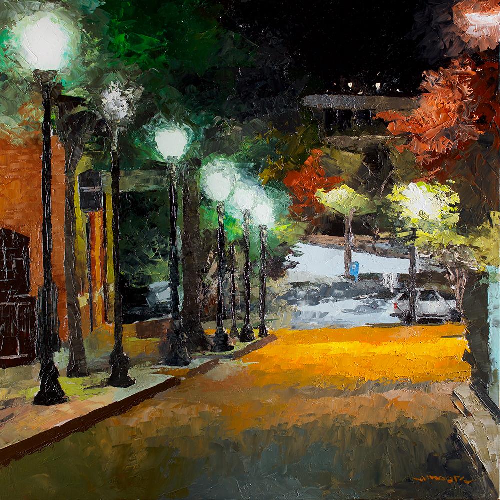 """Court Street at Midnight"""
