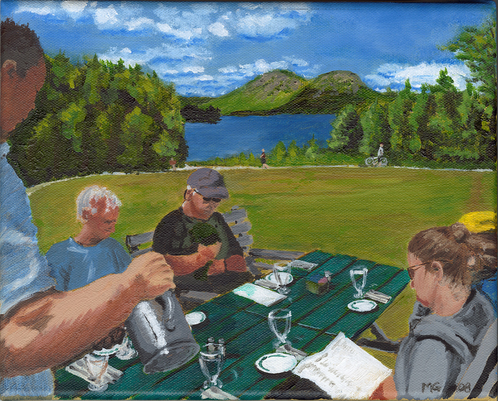Lunch at Jordan Pond - SOLD