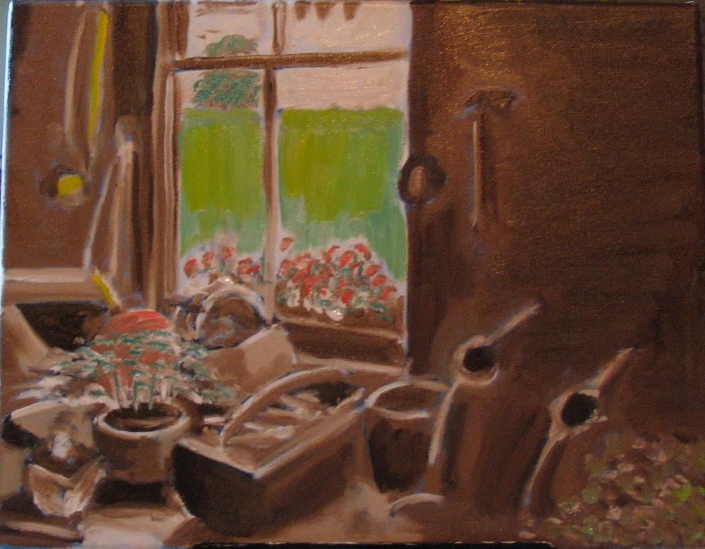 Garden shed - still life study