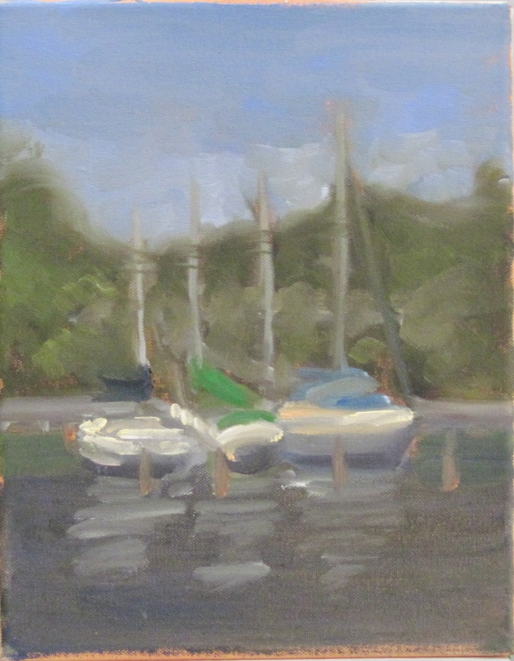 Sailboats on Solomon's Island, MD - study