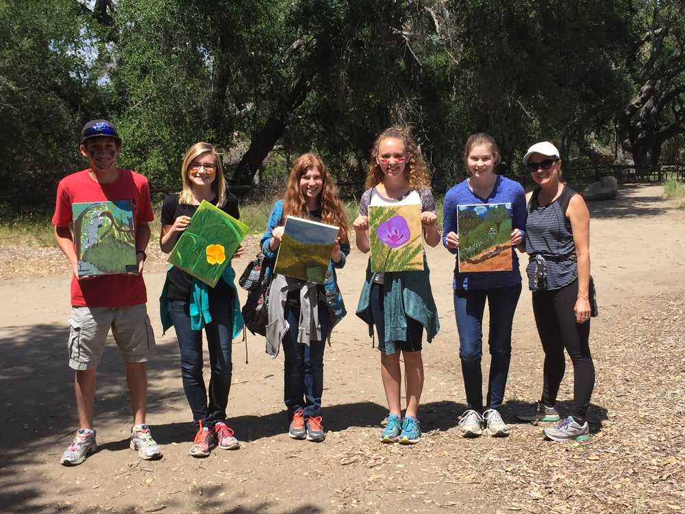 Hike-and-paint at the Santa Rosa Plateau