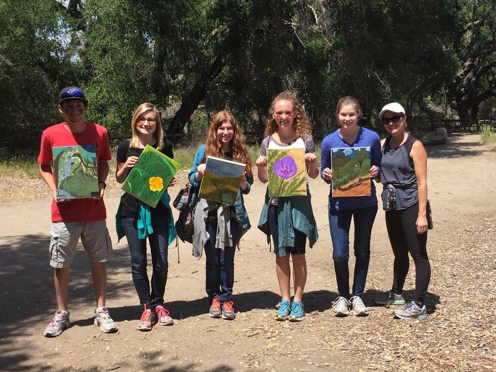 Hike-and-paint at the Santa Rosa Plateau