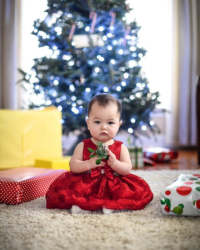 Successful 1st Christmas with this little sassy pants 🎄. #firstchristmas