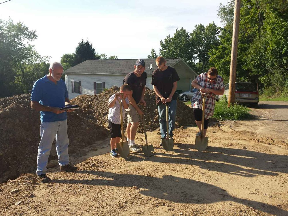 Earlier this summer, Habitat for Humanity Construction Supervisor Pete Hilty led the McElroy family in their groundbreaking service. Their completed home will be dedicated on Thursday, November 17 at 6:00 p.m.