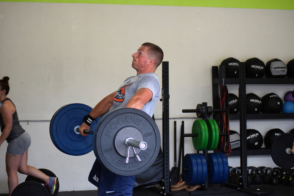 Dave working up to hitting a new Snatch PR!