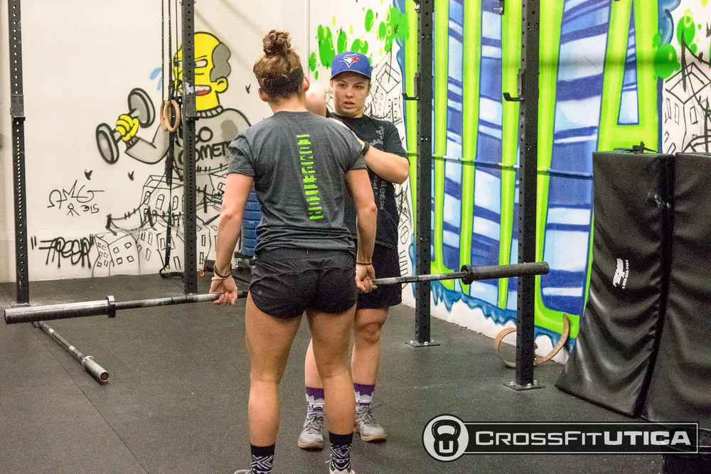 Kelsey and Joce making sure those movement standards are up to par for 16.2!